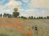 Wilde klaprozen bij Argenteuil, Coquelicots environs d'Argenteuil, 1873 Gicléedruk van Claude Monet
