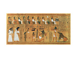 The Weighing of the Heart Against the Feather of Truth, circa 1250 BC (Painted Papyrus) Giclée-tryk