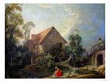 The Mill, 1751 Reproduction procédé giclée par Francois Boucher