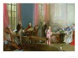 Le jeune Mozart au clavecin, détail d'après Le thé à l'anglaise Reproduction procédé giclée par Michel Barthélémy Ollivier
