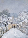 Snow at Louveciennes, 1878 Stampa giclée di Alfred Sisley