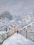 Snow at Louveciennes, 1878 Lámina giclée por Alfred Sisley