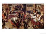The Village Lawyer, 1621 Giclée-tryk af Pieter Brueghel the Younger