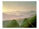 Morning in the Mountains Giclée-tryk af Caspar David Friedrich