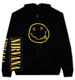 Zip Hoodie: Nirvana - Smile Moletom com zíper e capuz