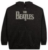 Felpa con cerniera: The Beatles - Logo d'epoca Felpa con cappuccio con chiusura a zip