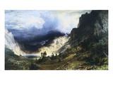 A Storm in the Rocky Mountains - Mt. Rosalie Giclée-tryk af Albert Bierstadt