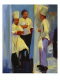 Chefs in Paris Giclee Print by Pam Ingalls