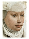 Detail of Portrait of a Young Woman Reproduction procédé giclée par Rogier van der Weyden
