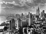 Vannkanten til East River og Manhattan, 1931 Fotografisk trykk