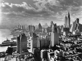 Waterkant East River en Manhattan, 1931 Fotoprint