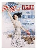 Fight or Buy Bonds Giclee-trykk av Howard Chandler Christy