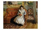 Jeanne Pissarro, Reading Reproduction procédé giclée par Camille Pissarro