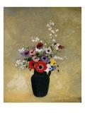 Große grüne Vase mit verschiedenen Blumen Giclée-Druck von Odilon Redon