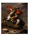 Napoléon franchissant les Alpes au col du Mont St Bernard Reproduction procédé giclée par Jacques-Louis David