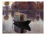 Monet's Studio Boat Giclée-Druck von Claude Monet