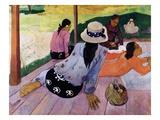 Siesta Giclee-trykk av Paul Gauguin
