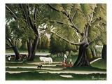 Sommer Giclee-trykk av Henri Rousseau