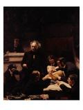 The Gross Clinic Giclee-trykk av Thomas Cowperthwait Eakins