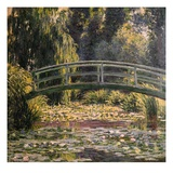 The Japanese Footbridge, Giverny Giclée-tryk af Claude Monet