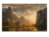Valley of the Yosemite Gicléedruk van Albert Bierstadt