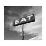 "Vintage ""Eat"" Restaurant Sign Reproduction photographique par Aaron Horowitz"