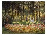 Wooded Scene Giclée-tryk af Claude Monet