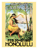 Mid Pacific Carnival, Honolulu, Hawaii, 1915 Giclée-tryk
