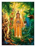 Native American Divine Grandmother Gicléedruk van David Rico