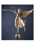 A Gilded and Molded Copper Weathervane of the Angel Gabriel, American, Late 19th Century ジクレープリント