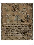 Silk-On-Linen Needlework Sampler, Dated 1802 ジクレープリント : エリザベス・ルドロウ