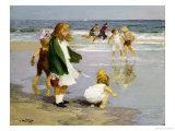 Play in the Surf Giclée-Druck von Edward Henry Potthast