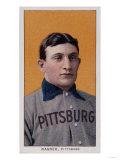 Honus Wagner Baseball Card ジクレープリント