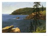 California Coast Giclée-tryk af Albert Bierstadt