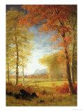 Autumn in America, Oneida County, New York Giclée-Druck von Albert Bierstadt
