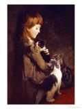 The Favorite Kitten Giclée-Druck von Abbott Handerson Thayer