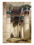 Egyptian View Giclée-tryk af David Roberts