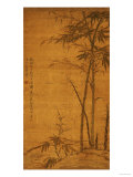 Green Bamboo in the Sheong Gu (Fine Outline) Style, 1319 Giclee Print by Li Kan