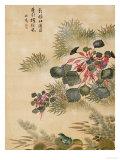 Water Caktrios and Frog Gicléedruk van Ma Yuanyu
