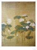Lotus Pond, 1726 Gicléedruk van Hua Yan