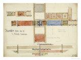 Florence, San Miniato, Studies of Decorative Ceiling Panels, 1891 Giclée-Druck von Charles Rennie Mackintosh