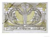 Conversazione Programme, Designed for the Glasgow Architectural Association, 1894 Giclée-Druck von Charles Rennie Mackintosh