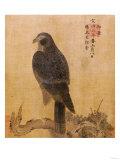Falcon on a Pine Limb, Emperor Xuande, circa 1426-1435 Giclée-tryk
