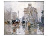 After the Rain, the Dewey Arch, Madison Square Park, New York Giclée-Druck von Paul Cornoyer