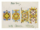 Orvieto Cathedral, a Sheet of Studies of Mosaic Bands, 1891 Giclée-Druck von Charles Rennie Mackintosh
