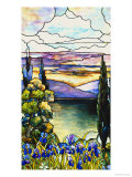 Leaded Glass Landscape Window, circa 1915 Giclee Print by  Lederle & Geisler