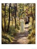Marie in the Garden, 1895 Giclée-tryk af Peder Severin Kröyer