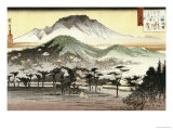 Cloches du soir au temple de Miidera Reproduction procédé giclée par Ando Hiroshige