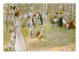 Breakfast in the Open (Frukost I Det Grona), 1910 Giclée-tryk af Carl Larsson