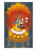 Vishnu and Lakshmi Enthroned, Basohli School circa 1690 Giclée-tryk